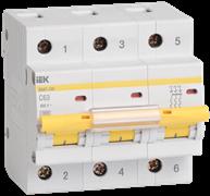 Выключатель автоматический 3-пол.100A C 10кА ВА47-100 IEK