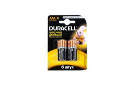 Элемент питания DURACELL LR03 BL6 - Батарейка