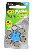 GP Hearing Aid ZA675F-D6 ZA675 BL6 - Батарейка