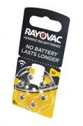 Батарейка для слуховых аппаратов RAYOVAC ACOUSTIC SPECIAL Type 10 BL6 - (блистер 6шт)
