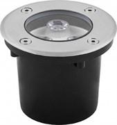 Светильник тротуарный, 3LED теплый белый, 3W, 100*H80mm, внутренний диаметр: 80mm, IP 67, SP4111