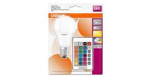 ST CLAS A  60 FR 9 W/2700 RGBW E27  +ПУЛЬТ- LED лампа OSRAM