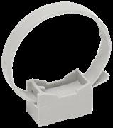 Хомутный держатель со стяжкой серый CFF1 16-32 мм IEK (100шт)