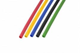 Набор термоусадочной трубки 4,0/2,0 мм, пять цветов (упак. 50 шт. по 1 м) REXANT