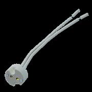 Ecola base GU5.3 патрон керамический с проводами 2*8cm (1 из уп. по  50)