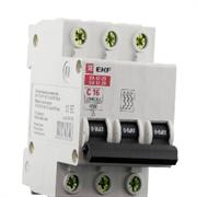 Автоматический выключатель ВА 47-29, 3P 16А (C) 4,5кА EKF Basic