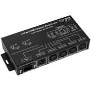 Контроллер-распределитель LN-DMX-4CH (230V) (ARL, IP20 Металл, 1 год)