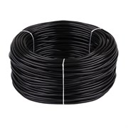Провод круглый ПВХ 2х0,75мм2 черный (100 м) (Salcavi Италия)