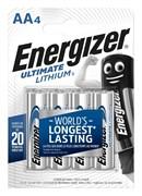 Батарейка ENERGIZER Ultimate Lithium FR6/L91/AA BL4