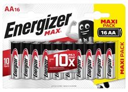 Батарейка ENERGIZER MAX LR6/E91/AA BL16 (блистер 16шт)