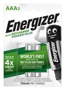 Аккумулятор ENERGIZER Power Plus NH12/AAA 700mAh BL2