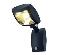 232405 MERVALED S светильник настенный IP54 14Вт с датчиком движения и LED 3000К, 750лм, 30°, антрацит, SLV