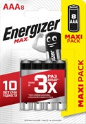 Батарейка ENERGIZER MAX LR03/E92/AAA BL8
