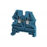 Klemsan, 304121, Клеммник на DIN-рейку 2,5мм.кв. (синий) AVK-2.5