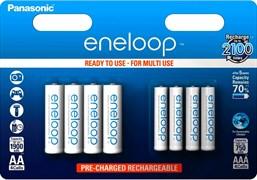 Panasonic eneloop BK-KJMCCE44E 750мАч AAA + 1900mAh AA BL8 - Аккумулятор