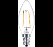 LEDClassic 2-25W B35 E27 WW CL ND APR  250lm 2700  - свеча PHILIPS