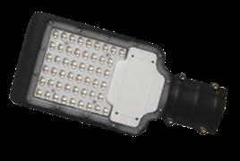 FL-LED Street-01  50W 6500K  черный  300*155*55мм D55   5200Лм   220-240В  (консольный светодиодный)