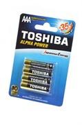 TOSHIBA ALPHA POWER LR03GCH BP-4 SS LR03 BL4 - Батарейка
