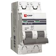 Автоматический выключатель ВА 47-63, 2P 40А (C) 4,5kA EKF PROxima