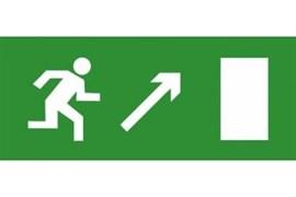 Эвакуационный знак ЭП04 Направо вверх 140x280 мм