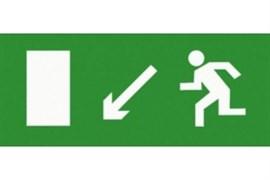 Эвакуационный знак ЭП06 Направо вниз 140x280 мм