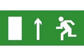 Эвакуационный знак ЭП11 Направление прямо (левосторонний) 140x280 мм