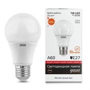 Лампа Gauss LED Elementary A60 7W E27 520lm 2700K 1/10/100