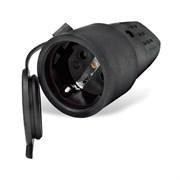 Разъем штепсельный с заземлением каучук 16А 250В IP44 (еврослот)