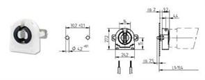 Патрон G13 торцевой с компенсирующей пружиной, толщина патрона 9,2мм