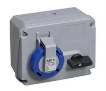 Розетка кабельная 63А 3Р+N+E IР67 с выключателем/блокировкой 415В CEWE (463 MHS6W)