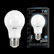 Лампа Gauss A60 7W 710lm 4100K E27 LED 1/10/50