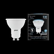 Лампа Gauss MR16 5W 530lm 4100K GU10 LED 1/10/100