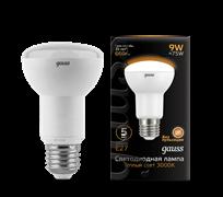 Лампа Gauss R63 9W 660lm 3000K E27 LED 1/10/50