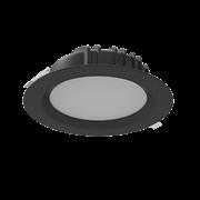 """Светильник светодиодный """"ВАРТОН"""" Downlight круглый встраиваемый 230*81 мм 40W 3000K IP54 RAL9005 черный матовый"""