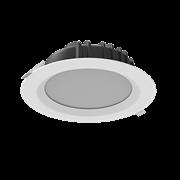 """Светильник светодиодный """"ВАРТОН"""" Downlight круглый встраиваемый 230*81 мм 40W 4000K IP54 RAL7045 серый муар"""