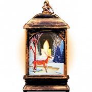 """Фонарь новогодний светодиодный """"Олененок"""" Gauss серия Holiday, 0,1W, тёплый свет,  бронзовый, батаре"""
