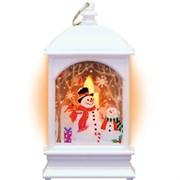 """Фонарь новогодний светодиодный """"Снеговик"""" Gauss серия Holiday, 0,1W, тёплый свет, белый, батарейки в"""