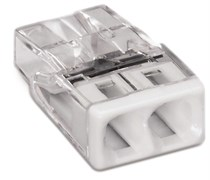 Клемма WAGO 2х2,5 прозрачная (100 шт/уп)