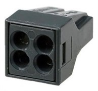 FJ-114  4/2,5 мм2, аналог WAGO - Клемма строительно-монтажная, Alu-paste 4*2,5 мм2