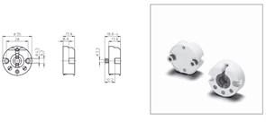 48501 VS Патрон G13 T8, T12 торцевой поворотный под M3 d35x14 с пружинами