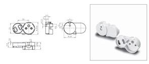 47920 FOTON Патрон G13 T8 накидной+стартеродерж M3 52.5x28.8 1000шт/кор