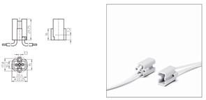33671 VS Патрон G8.5  Ceramic T300° + провода 1.0x300 черный