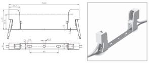 32330 VS Патрон RX7s керамика на планке 132мм. провод 1 кв.мм