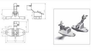 21100 VS Держатель  K12s-7  керамика T300 для HQI TS 1000/2000