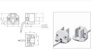 02500 Vossloh Schwabe Патрон Fc2   до 5KV отверстия d5 в 2-х плоскостях провод d3,6x300