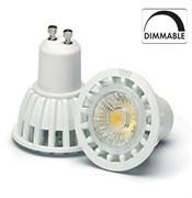 VS LED GU10  7W=50W 3000K 24гр DIMM230V 450lm 800cd белый корпус   50000h  -  светодиодная лампа