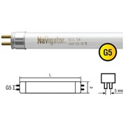 Лампа люминесцентная миниат. G5 12W NTL-T4-12-840-G5 Navigator