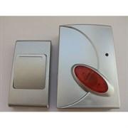 Е-117 серебр. Звонок беспроводной 3 мелодии 100м с кнопкой   TECHNOLIGHT