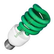 ESL  L9 20W   GREEN     E27 СПИРАЛЬ d48X127 FOTON -  лампа (E077)